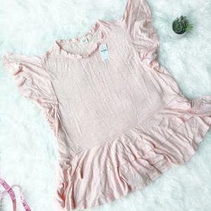 Gap Light Pink/Peach Ruffles Shirt